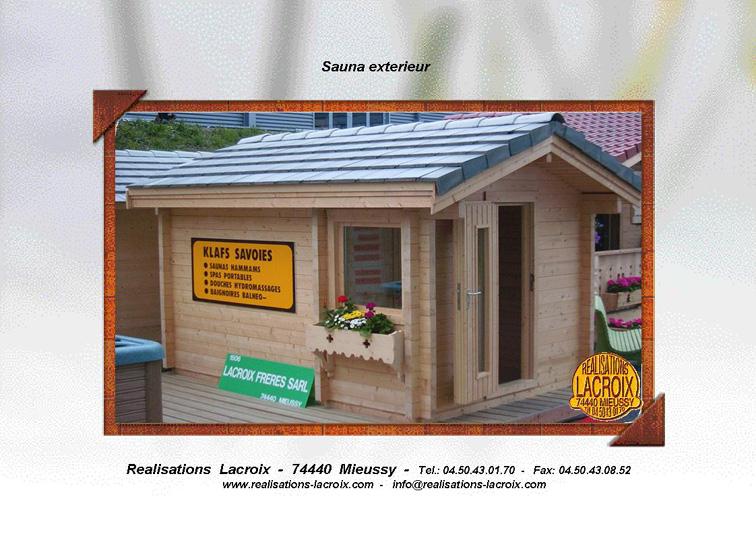 sauna en kit exterieur awesome sauna finland with sauna en kit exterieur gallery of log cabin. Black Bedroom Furniture Sets. Home Design Ideas