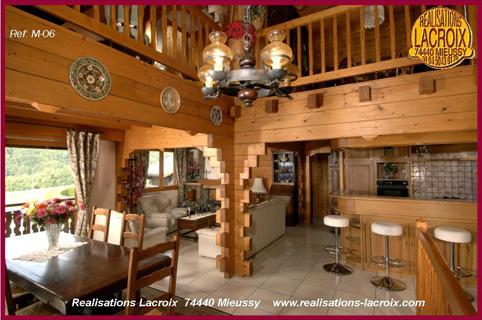 Vues images photos int rieures de chalets et maisons bois - Interieur chalet savoyard ...